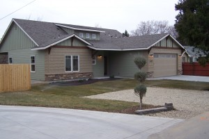 New home at 4801 W. Holmes St. in Boise.  1674 sq.ft. 3 br 2 ba single level home on 1/4 acre lot in great Bench location